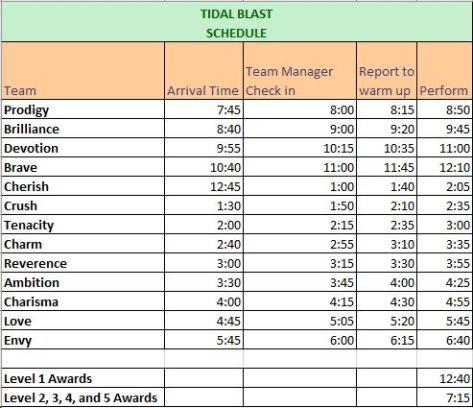 tidal blast schedule2