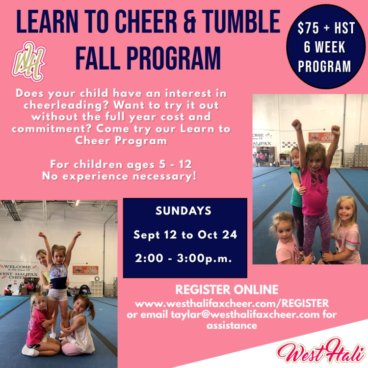 Learn to Cheer - Fall 2021 - Made with PosterMyWall
